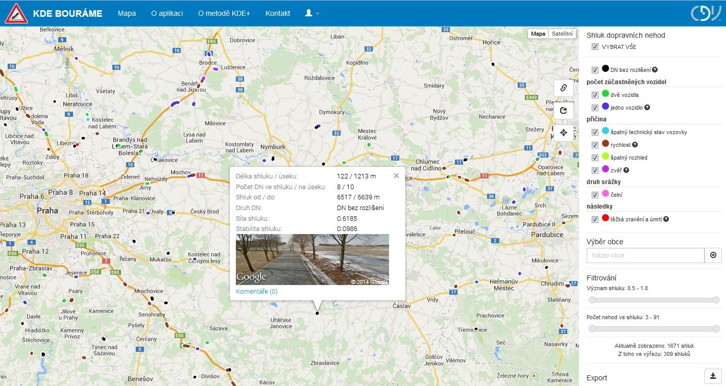 obrázek:dopravni nehody srazky se zveri priklad aplikace geoinformatiky v dopravnim vyzkumu obr 3