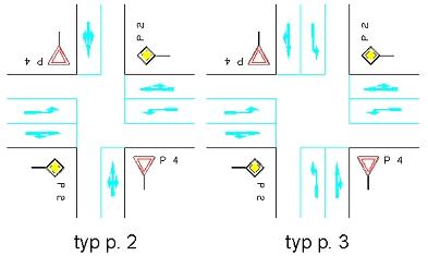 obrázek:obr 2 prusecne krizovatky typu p 2 a p 3
