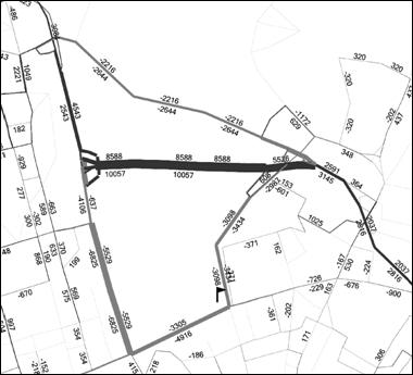 obrázek:obrazek 2 zmeny dopravnich objemu po otevreni noveho useku barv