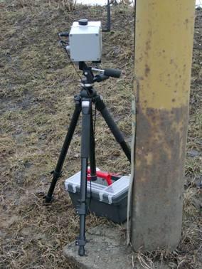 obrázek:obrazek 4 radar umisteny za sloupem verejneho osvetleni