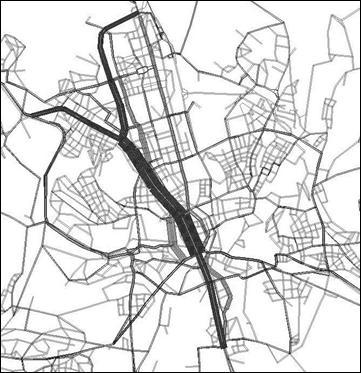 obrázek:obrazek 6 vliv stavby sjtd na zmenu prepravnich toku ve verejne