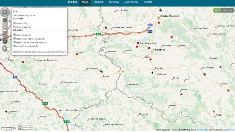 obrázek:ukazka mapoveho podkladu neprimych ukazatelu bezpecnosti silnicniho provozu